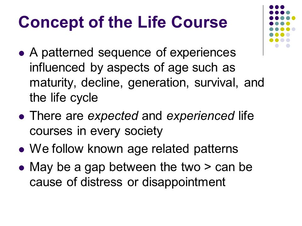 Concept of the Life Course