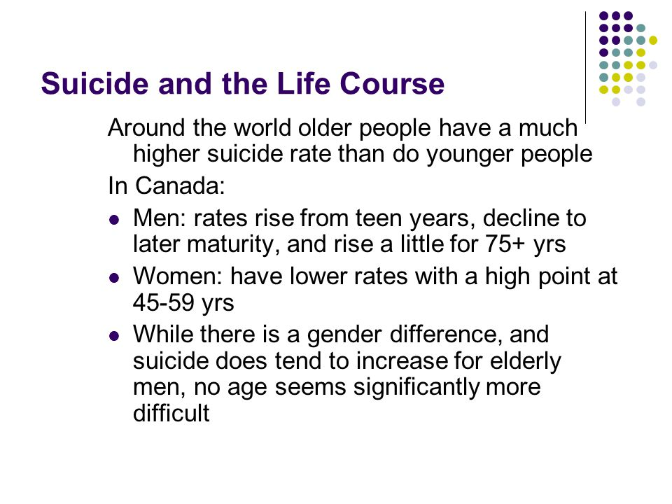Suicide and the Life Course