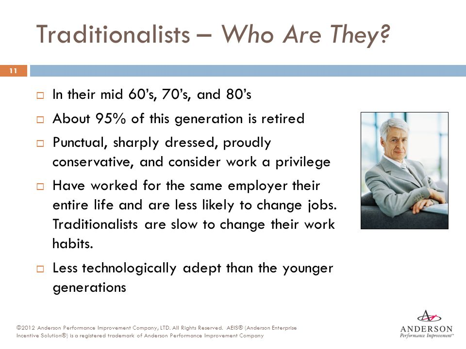 Traditionalists – Who Are They