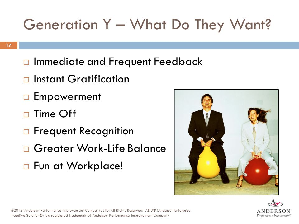 Generation Y – What Do They Want