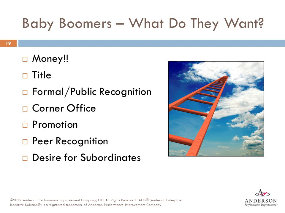 Baby Boomers – What Do They Want