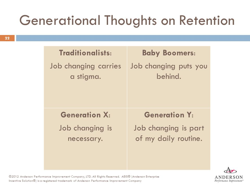 Generational Thoughts on Retention