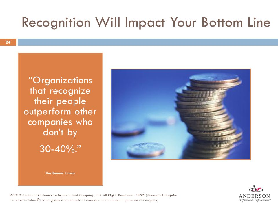 Recognition Will Impact Your Bottom Line