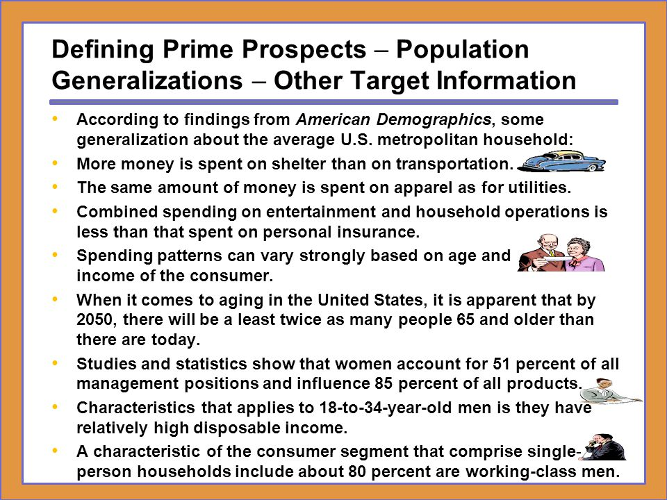 Defining Prime Prospects – Population Generalizations – Other Target Information