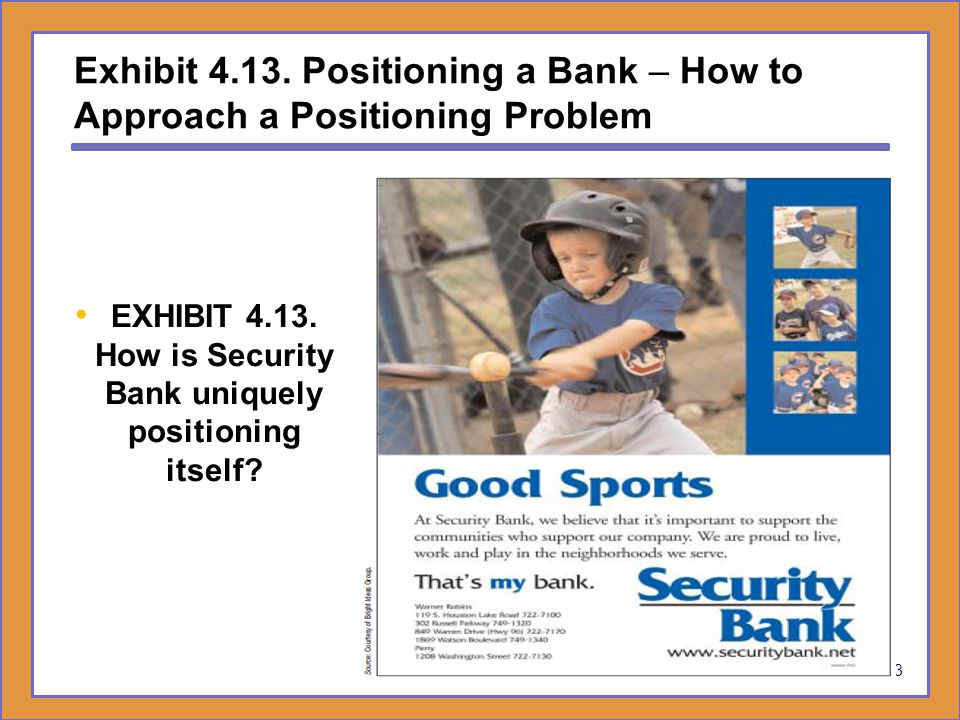 EXHIBIT 4.13. How is Security Bank uniquely positioning itself