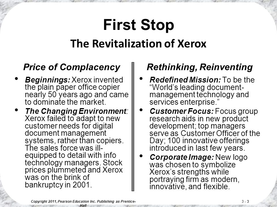microenvironment and macroenvironment of xerox company Managers, xerox found itself developing and selling document  the marketing  environment consists of a microenvironment and a macroenvironment the  microenvironment consists of the actors close to the company that affect its ability  to.