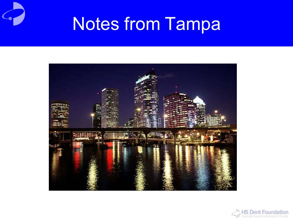 Notes from Tampa