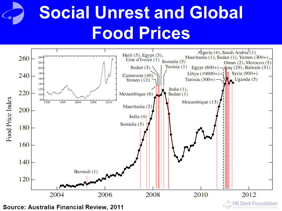 Social Unrest and Global Food Prices