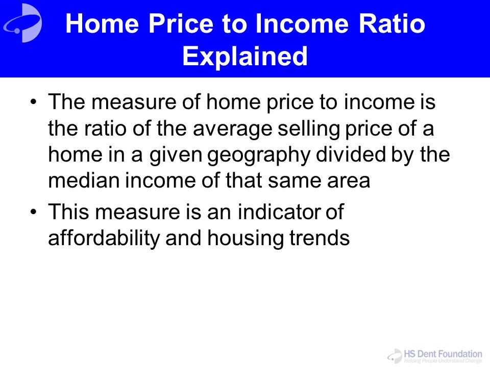 Home Price to Income Ratio Explained