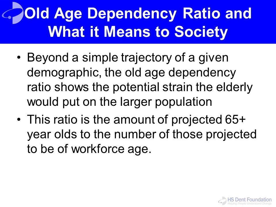 Old Age Dependency Ratio and What it Means to Society