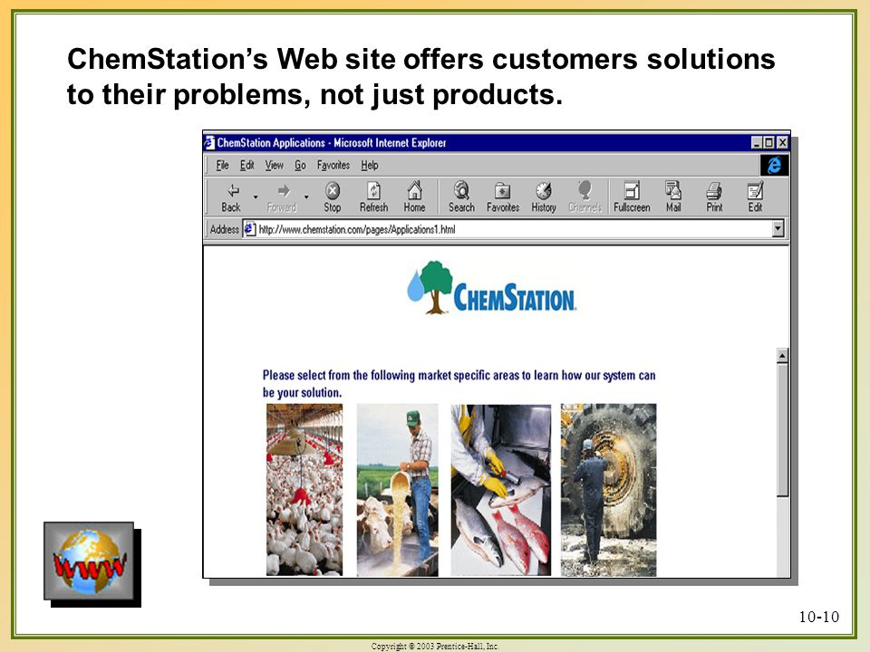 ChemStation's Web site offers customers solutions to their problems, not just products.