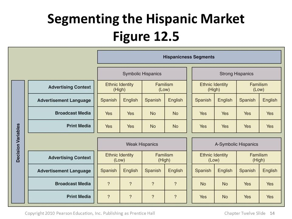 Segmenting the Hispanic Market Figure 12.5