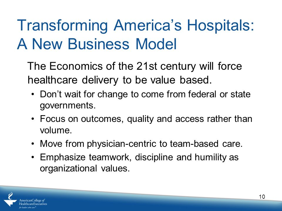 Transforming America's Hospitals: A New Business Model