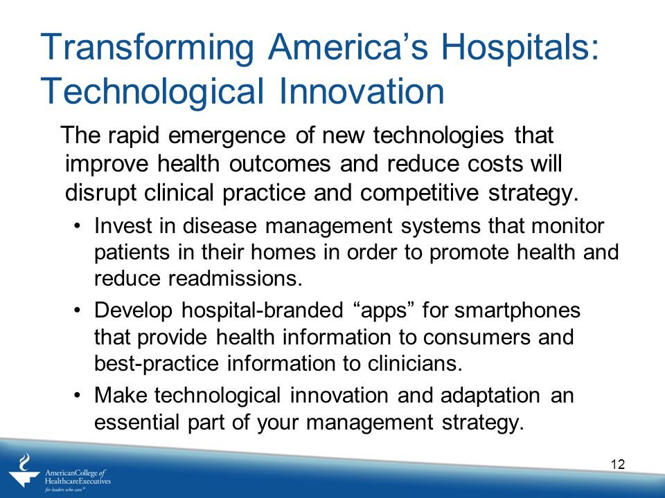 Transforming America's Hospitals: Technological Innovation