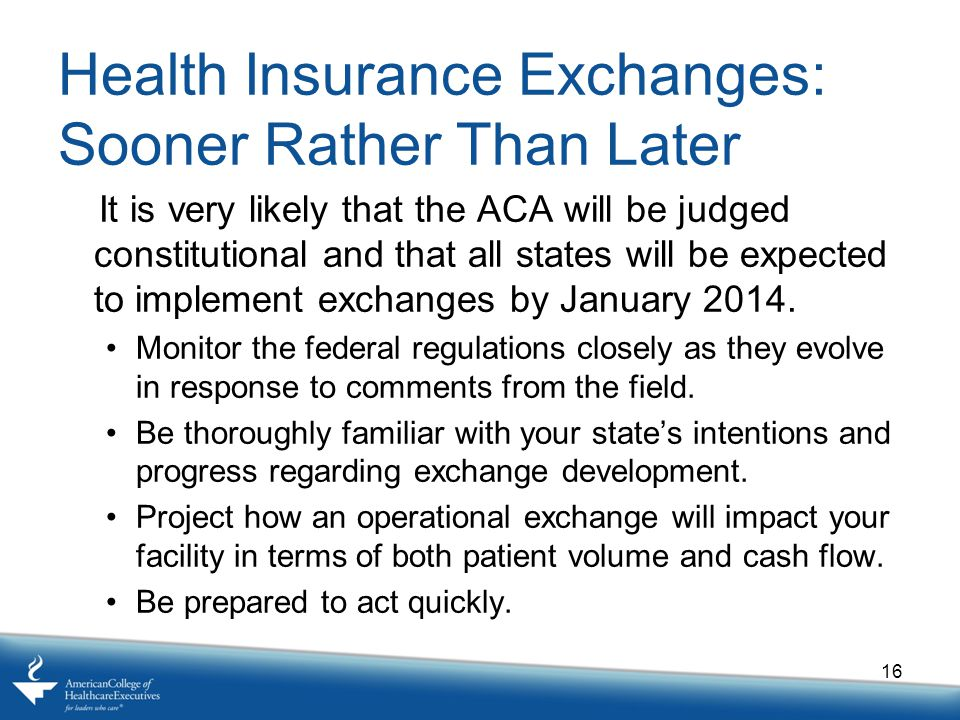 Health Insurance Exchanges: Sooner Rather Than Later