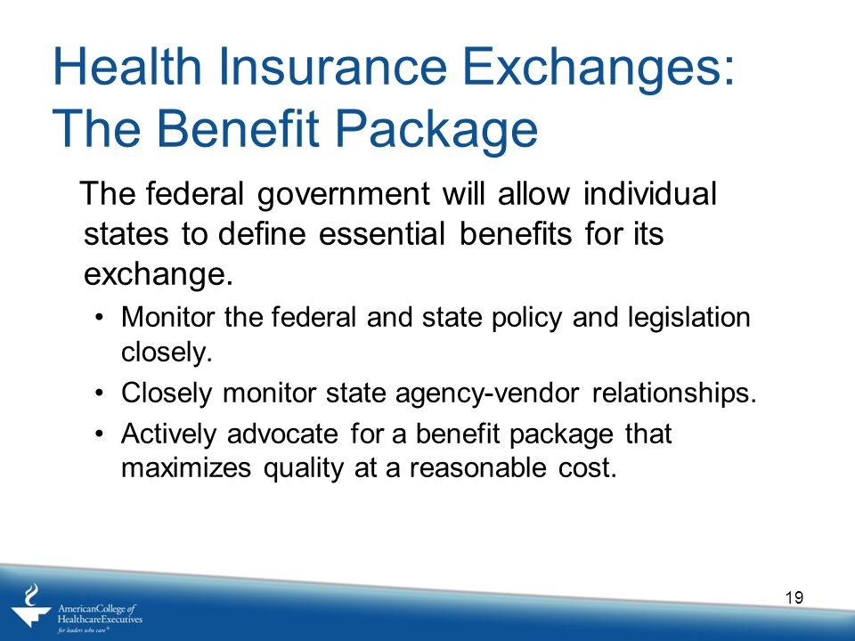 Health Insurance Exchanges: The Benefit Package