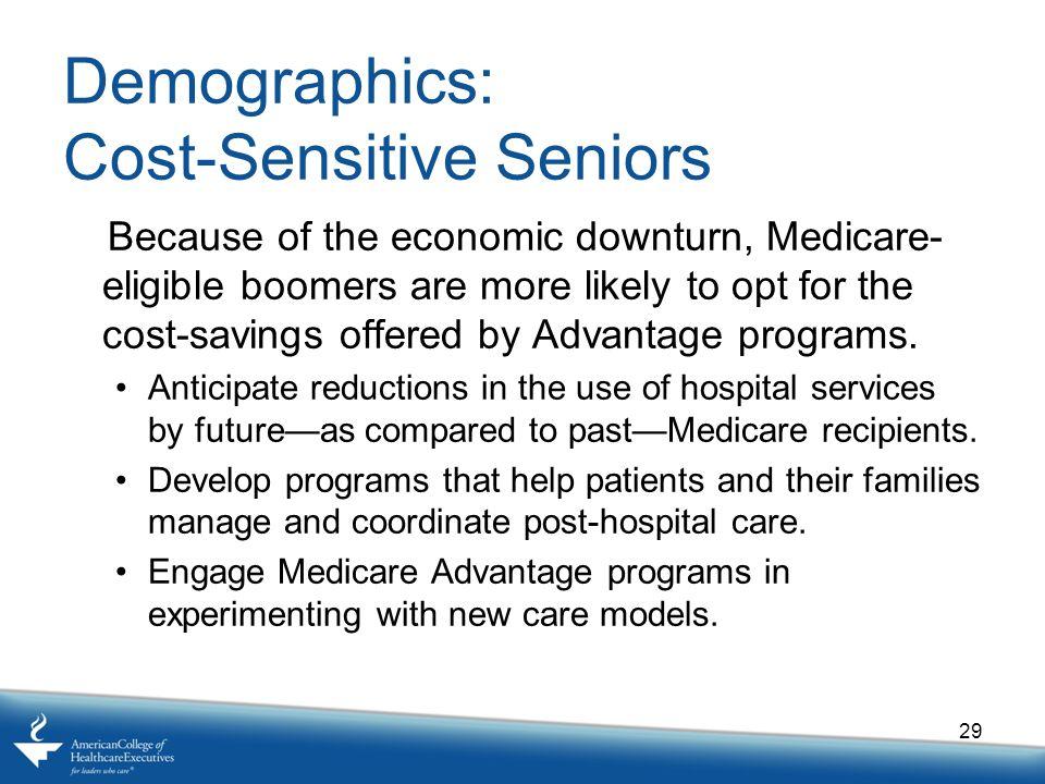 Demographics: Cost-Sensitive Seniors