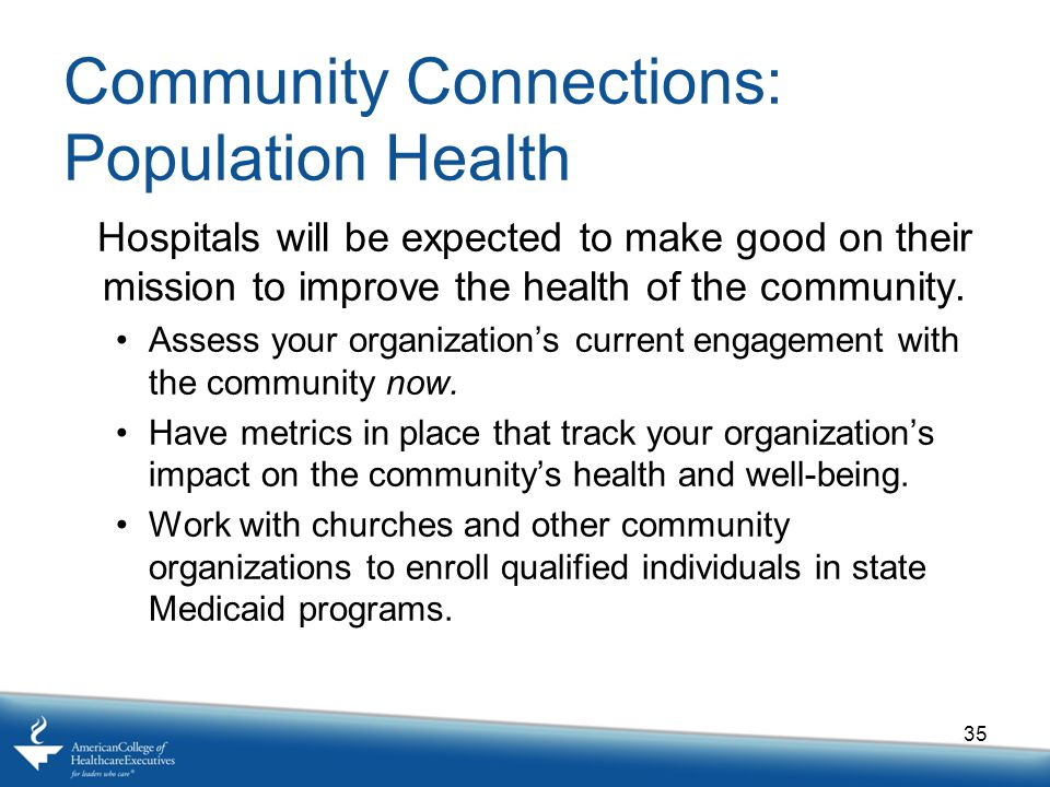 Community Connections: Population Health