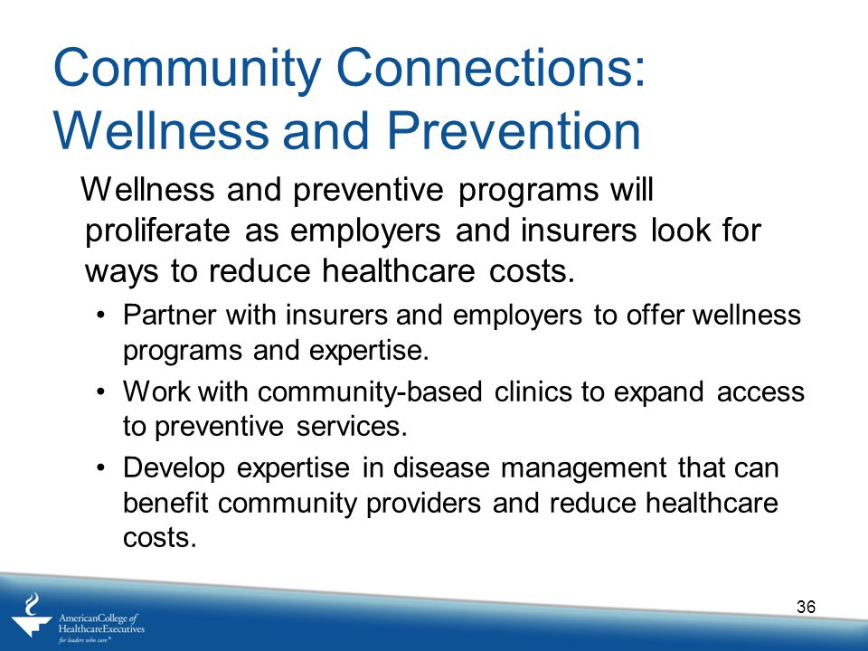 Community Connections: Wellness and Prevention