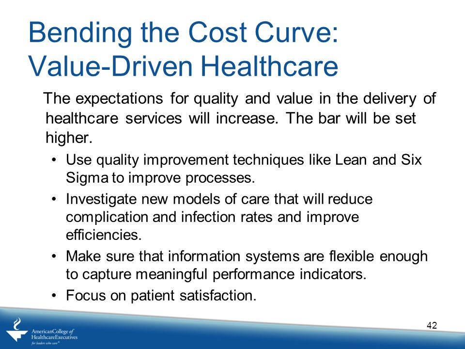 Bending the Cost Curve: Value-Driven Healthcare