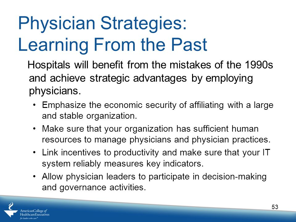 Physician Strategies: Learning From the Past