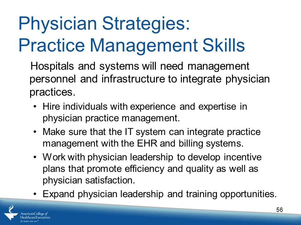 Physician Strategies: Practice Management Skills