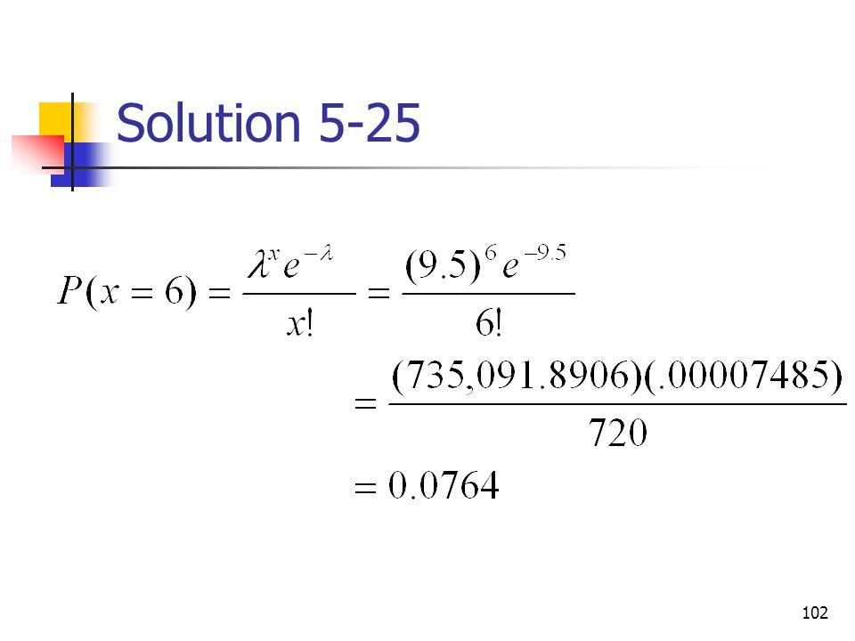 Solution 5-25