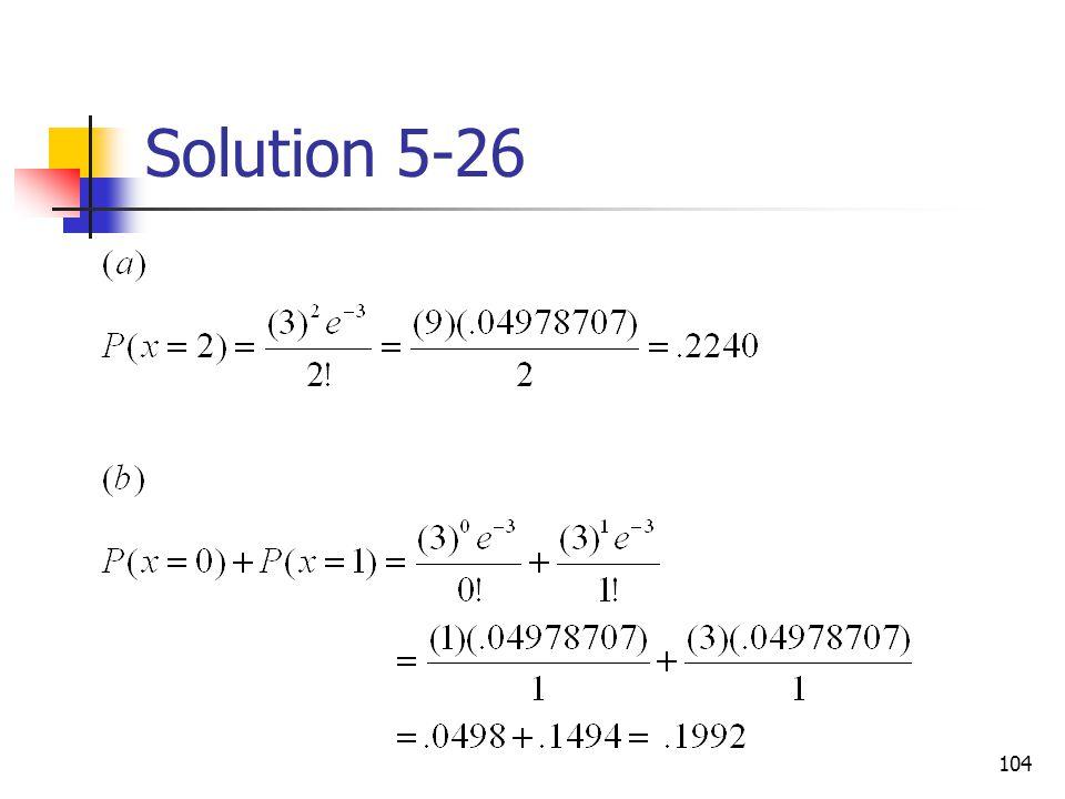 Solution 5-26