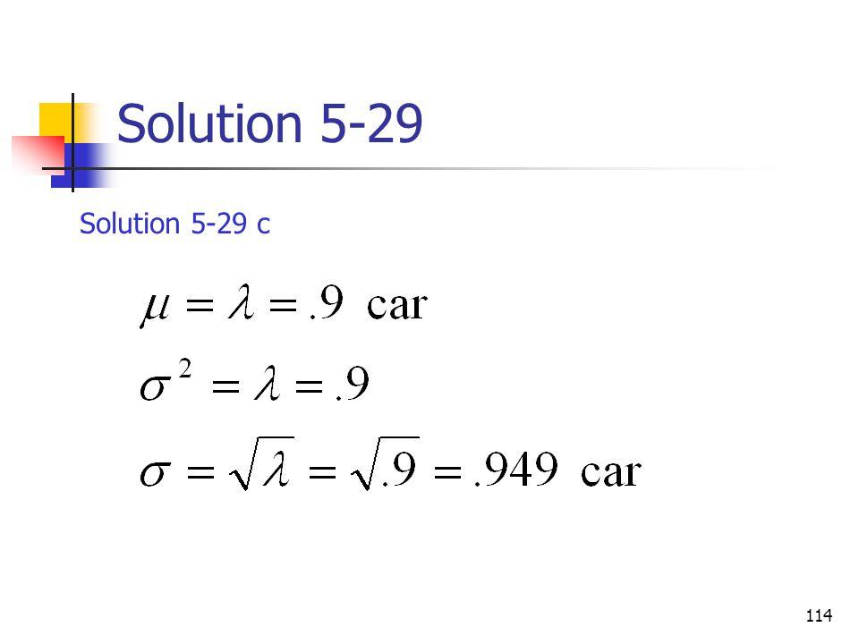 Solution 5-29 Solution 5-29 c