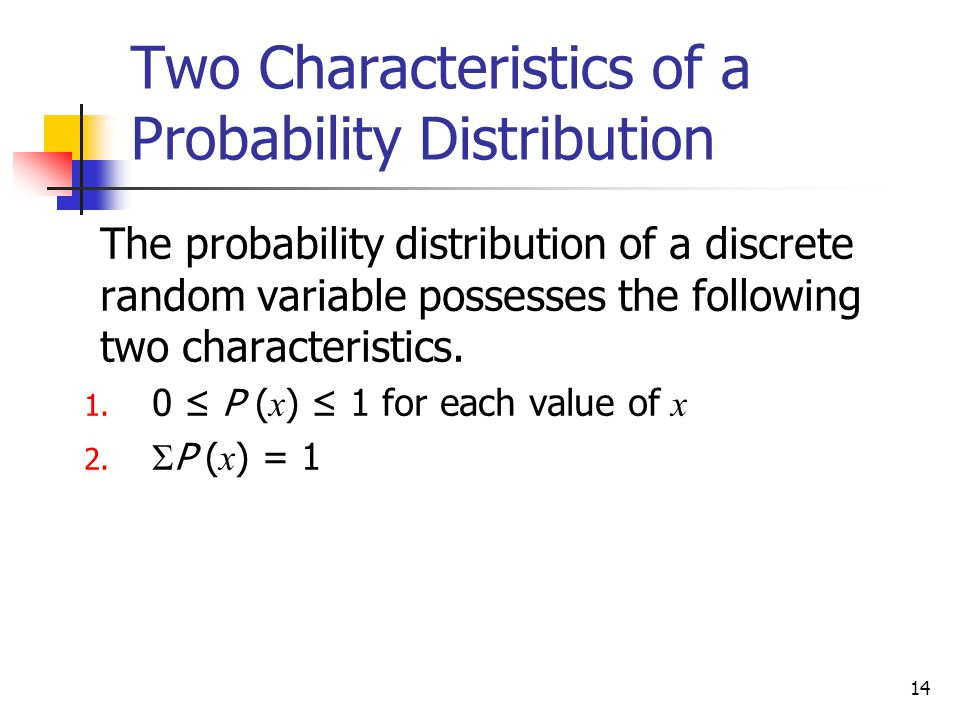 Two Characteristics of a Probability Distribution