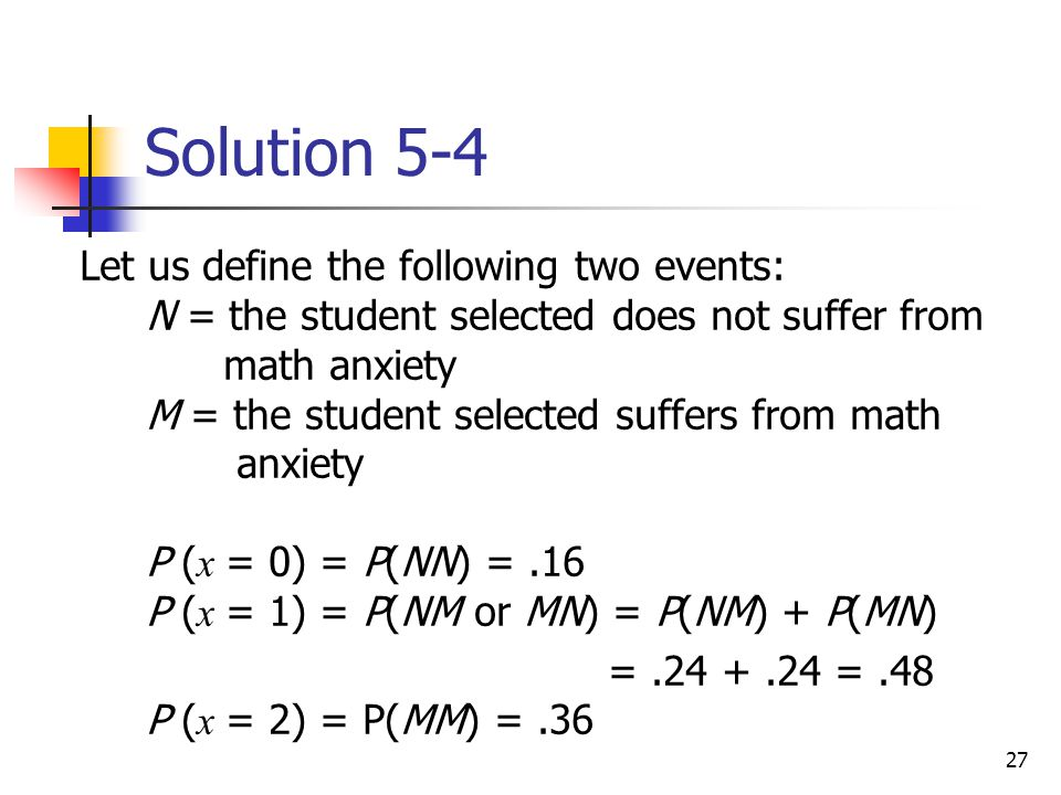 Solution 5-4