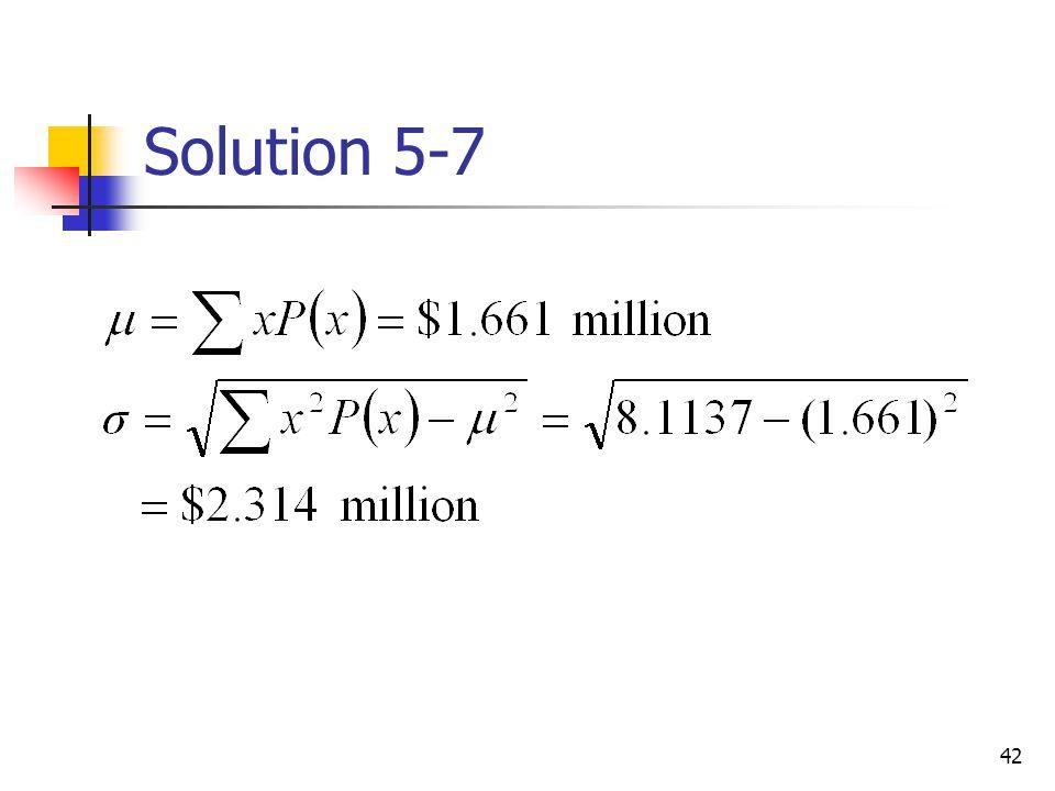 Solution 5-7