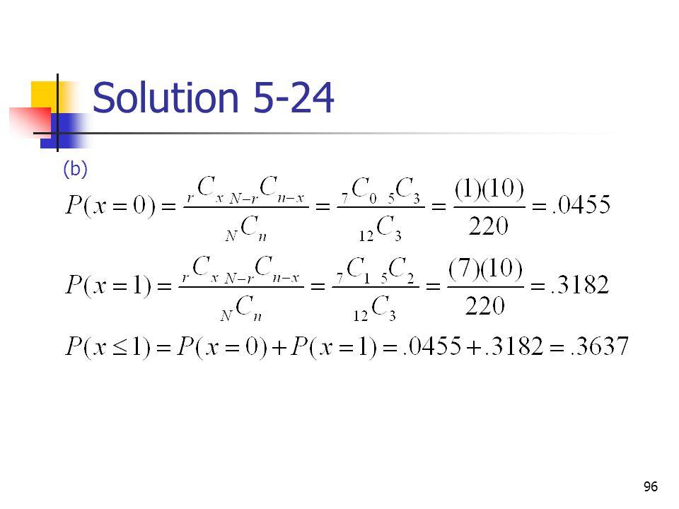 Solution 5-24 (b)