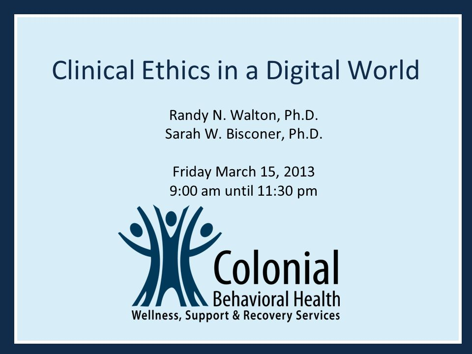 Clinical Ethics in a Digital World
