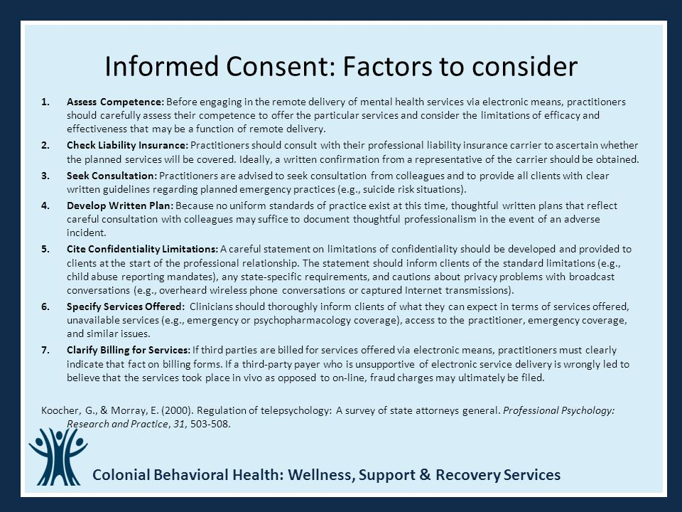 Informed Consent: Factors to consider
