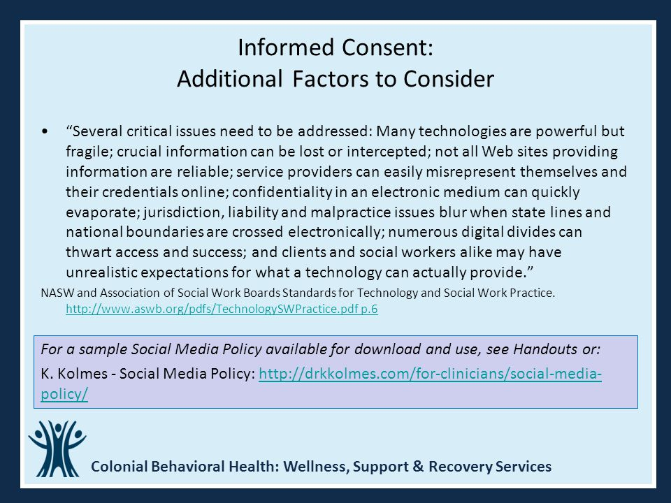 Informed Consent: Additional Factors to Consider