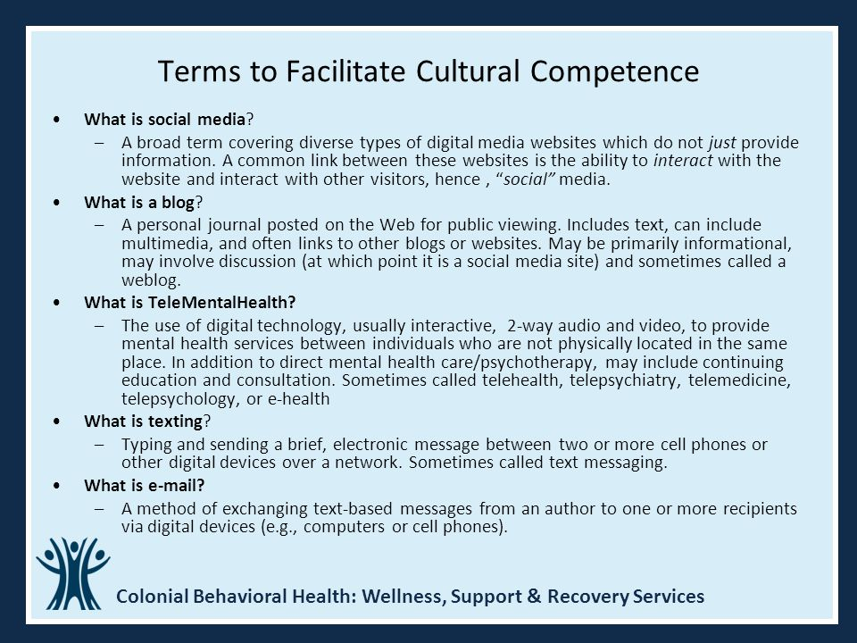 Terms to Facilitate Cultural Competence
