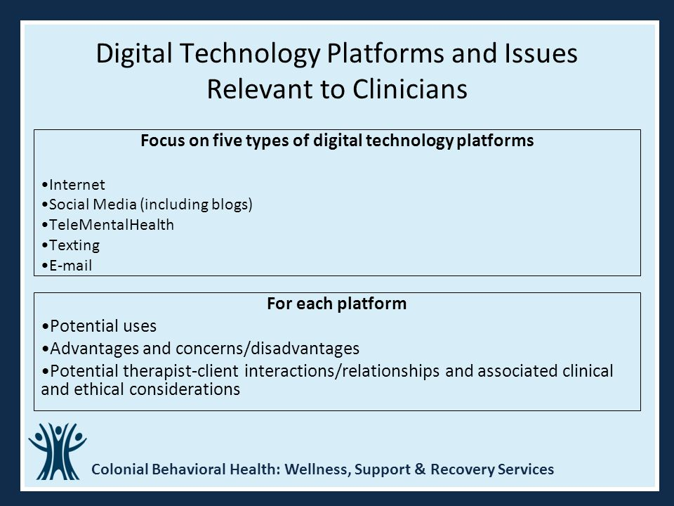 Digital Technology Platforms and Issues Relevant to Clinicians