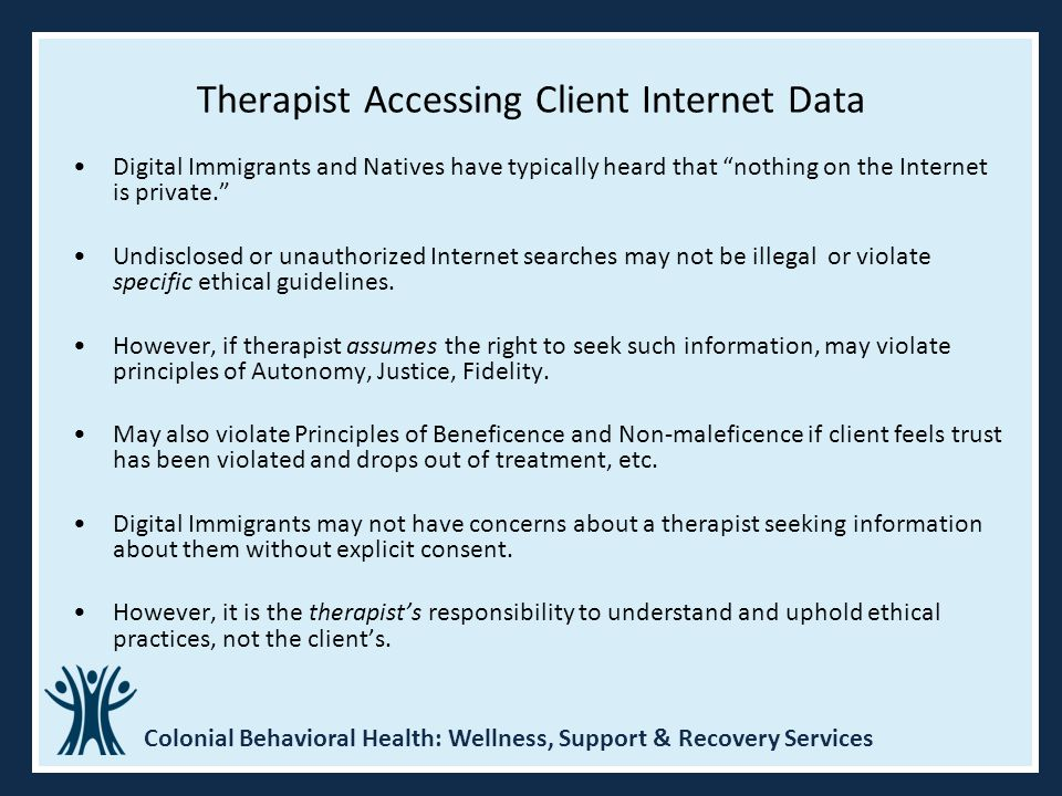 Therapist Accessing Client Internet Data