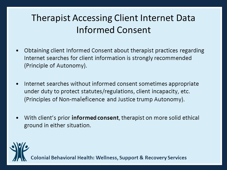 Therapist Accessing Client Internet Data Informed Consent