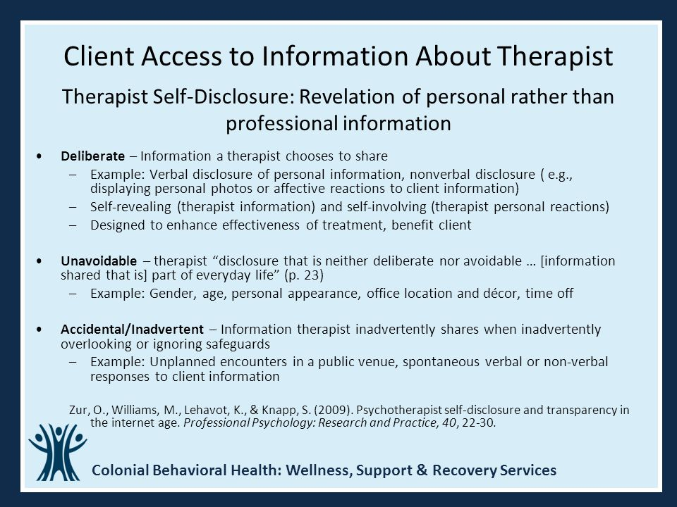 Client Access to Information About Therapist