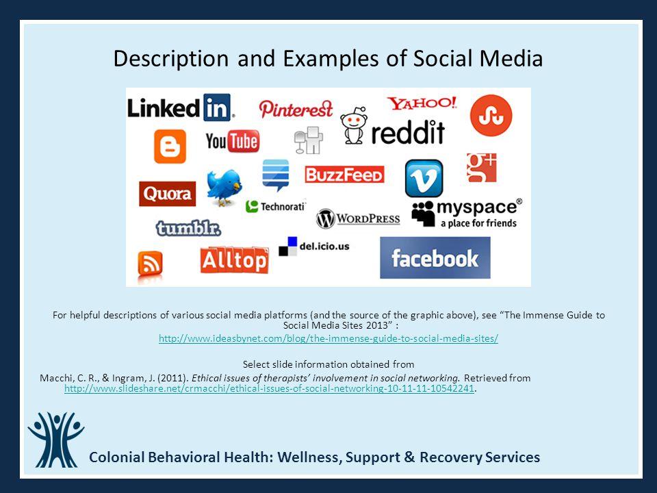 Description and Examples of Social Media