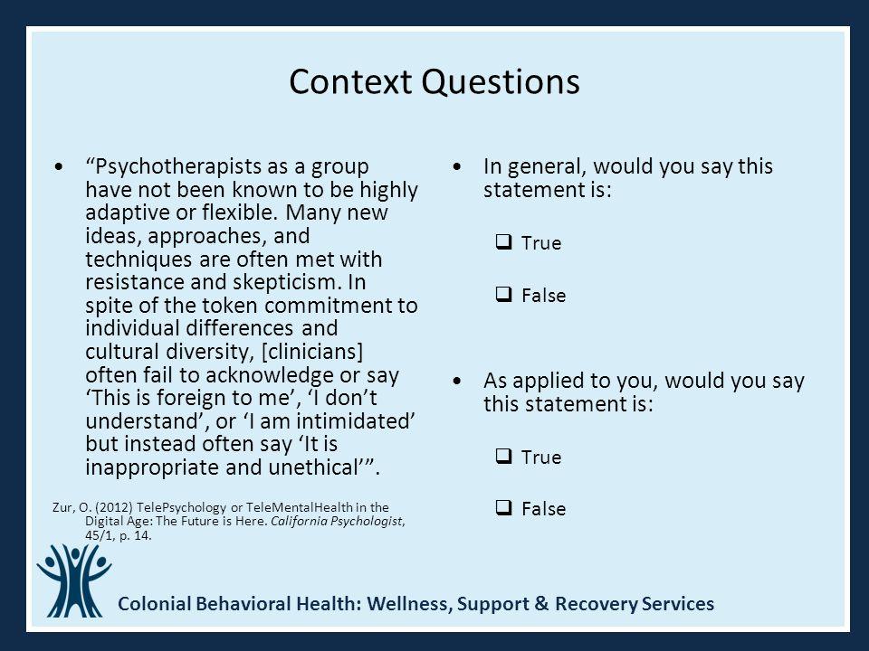 Context Questions