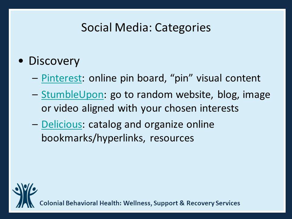 Social Media: Categories