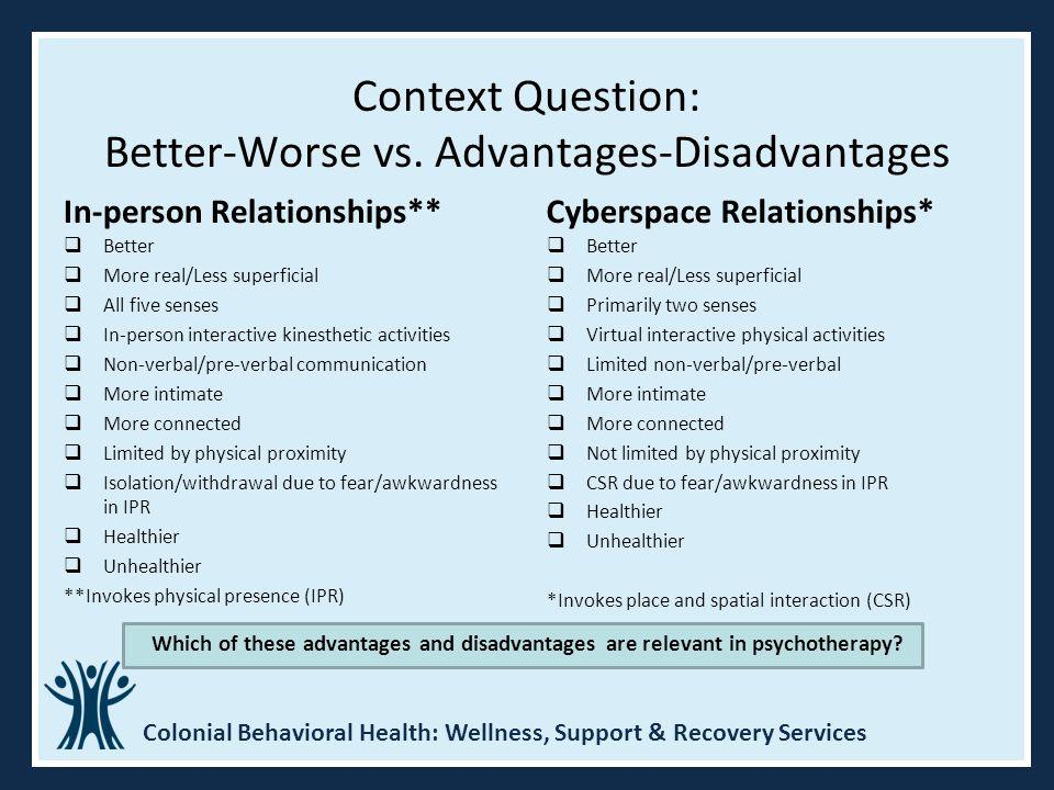 Context Question: Better-Worse vs