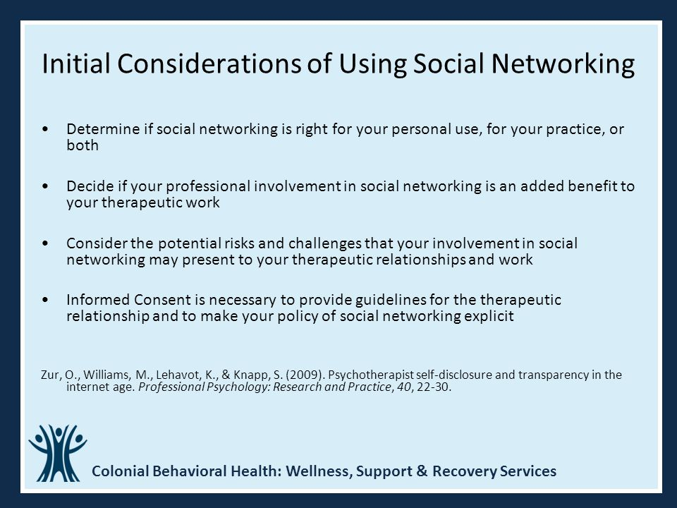 Initial Considerations of Using Social Networking