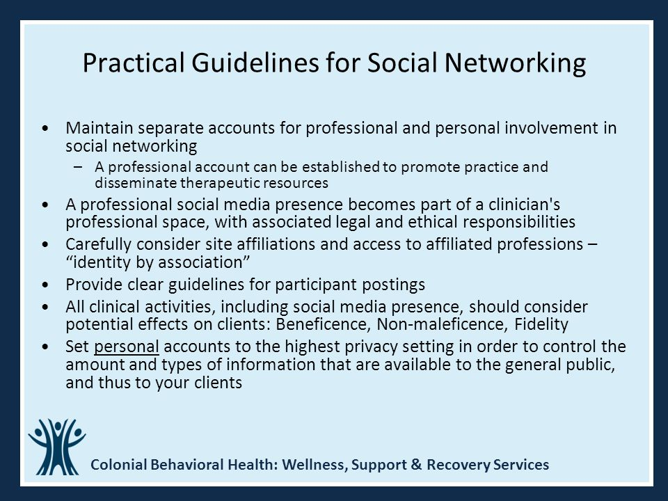 Practical Guidelines for Social Networking