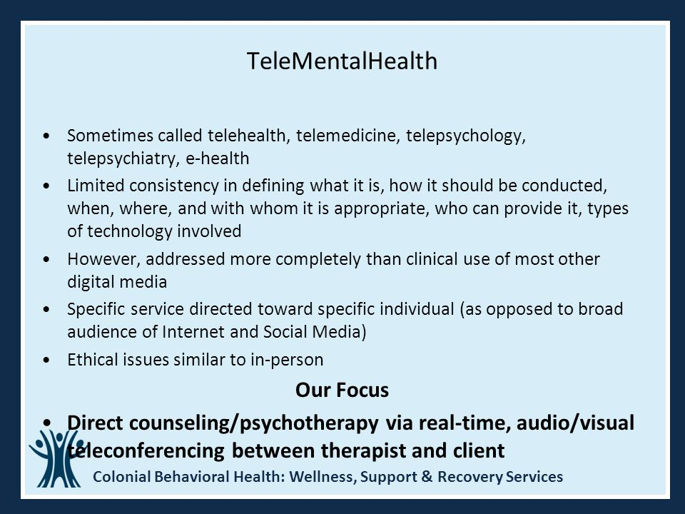 TeleMentalHealth Our Focus