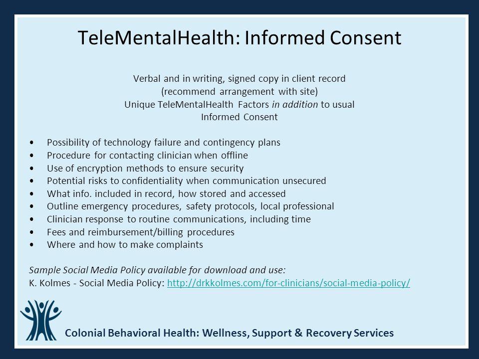 TeleMentalHealth: Informed Consent