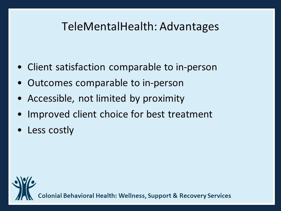 TeleMentalHealth: Advantages